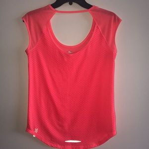 Gorgeous Yoga Bright Coral Athletic Top